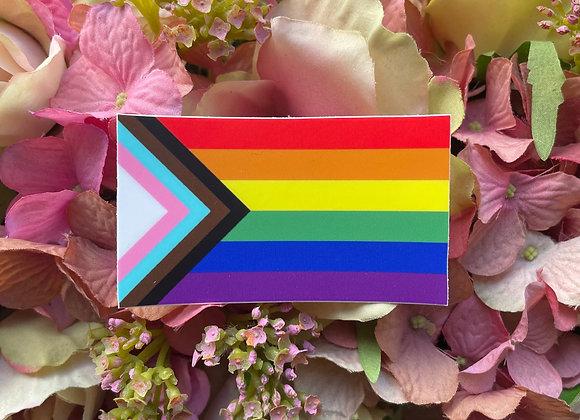 Progress Pride Flag sticker | LGBTQ Sticker