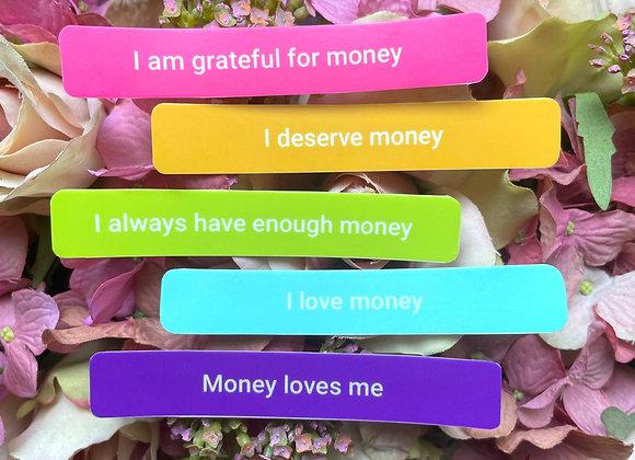 Money Affirmation Sticker Set   LGBTQ Sticker