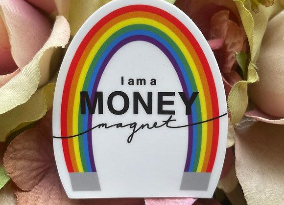 Money Magnet Sticker   Money Affirmation Sticker   LGBTQ Sticker