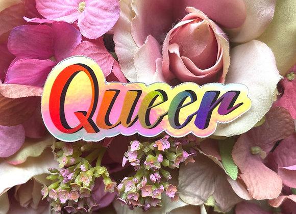 Queer Holographic sticker | LGBTQ Sticker