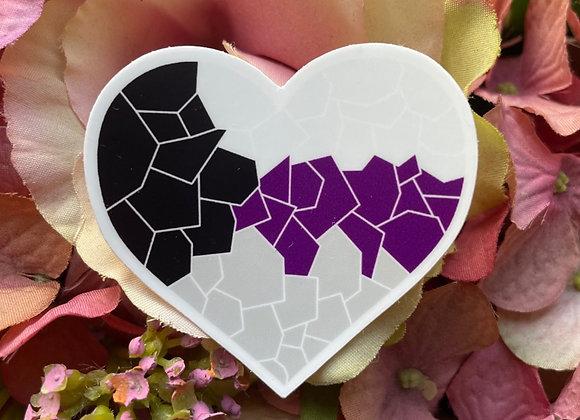 Demisexual Flag Mosaic Heart Sticker | LGBTQ Sticker