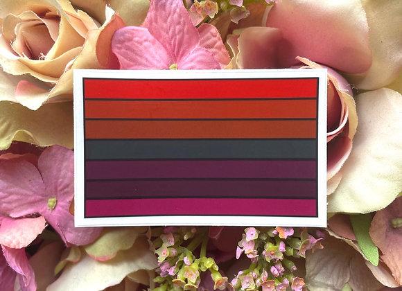 Dark Lesbian Flag sticker   LGBTQ Sticker