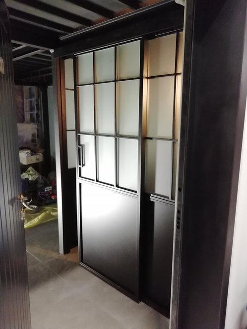 Лофт перегородка раздвижная для зонирования WC.