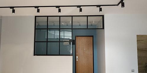 Лофт сталь стационарная конструкция.