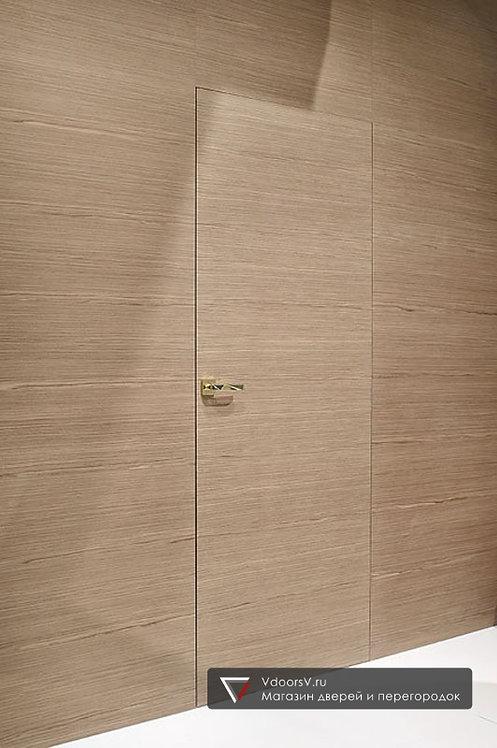 Дверь скрытого монтажа шпонированная.