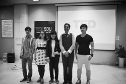 TEDxSDU with the other speakers