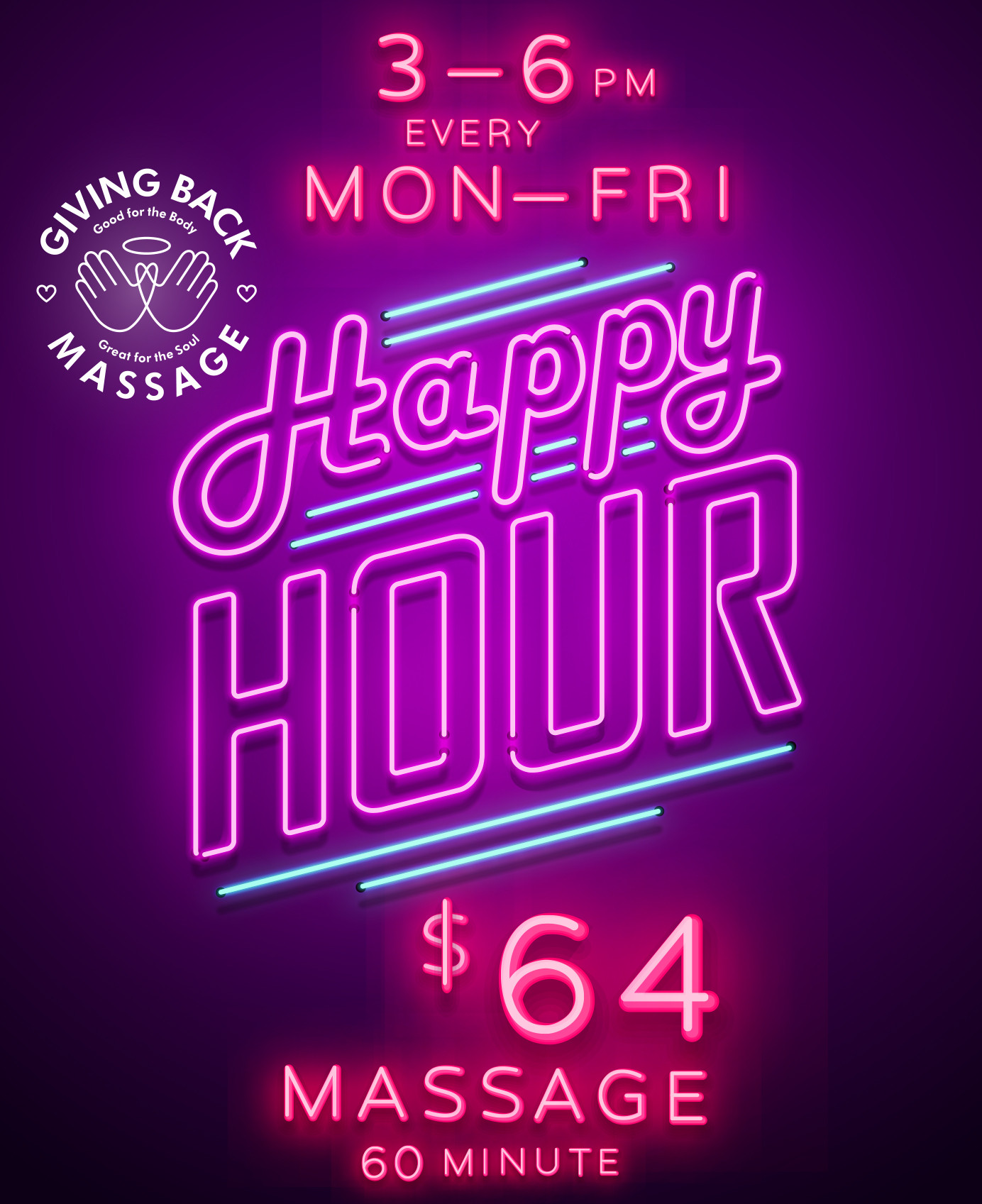 60-minute Happy Hour Special!