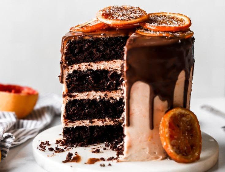 Chocolate Orange Rum Cake