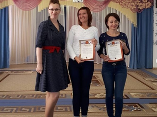 Наградили грамотой воспитателей6 группы Кривцову Анжелику Владимировну и Баклашову Екатерину Анатол