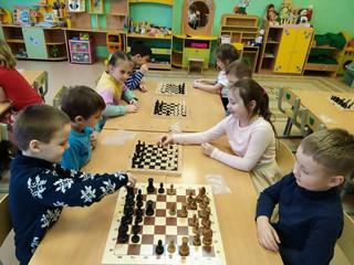 """Кружок """"Шахматы"""" в 9 группе."""
