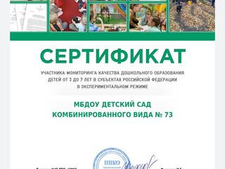Мониторинг качества дошкольного образования РФ.