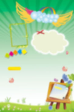 Cartoon Crayon Cute Design background.jp