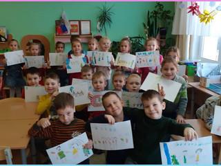 """Рисование """"Дети танцуют на празднике в детском саду"""" в 12 группе."""