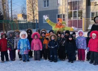 """Спортивное развлечение для детей средних групп """"Зимние забавы""""."""