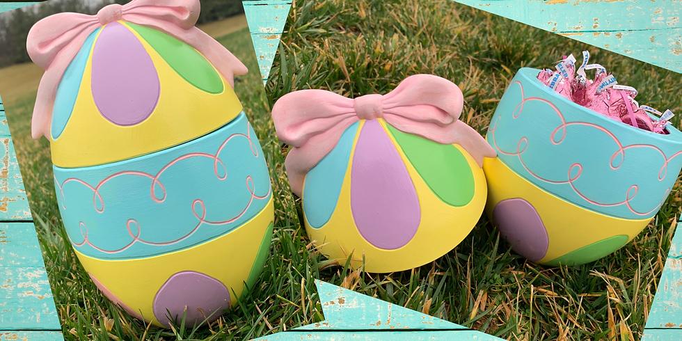 Ceramic Egg Candy Dish!