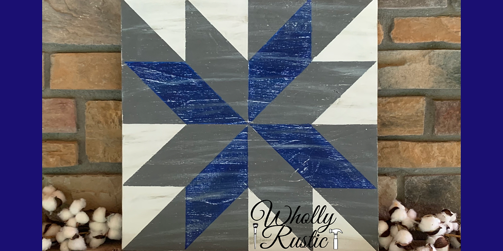 Weathered Barn Quilt Painting @ Wholly Rustic!