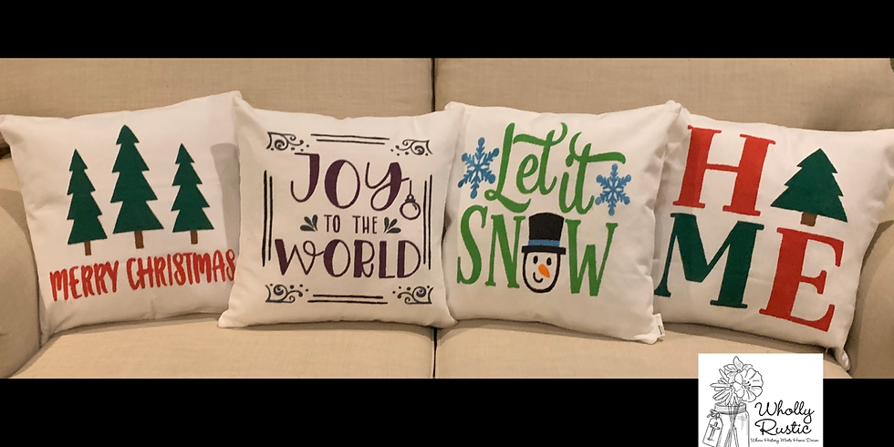 Holiday Pillow Painting @ Boomtown Kitchen!