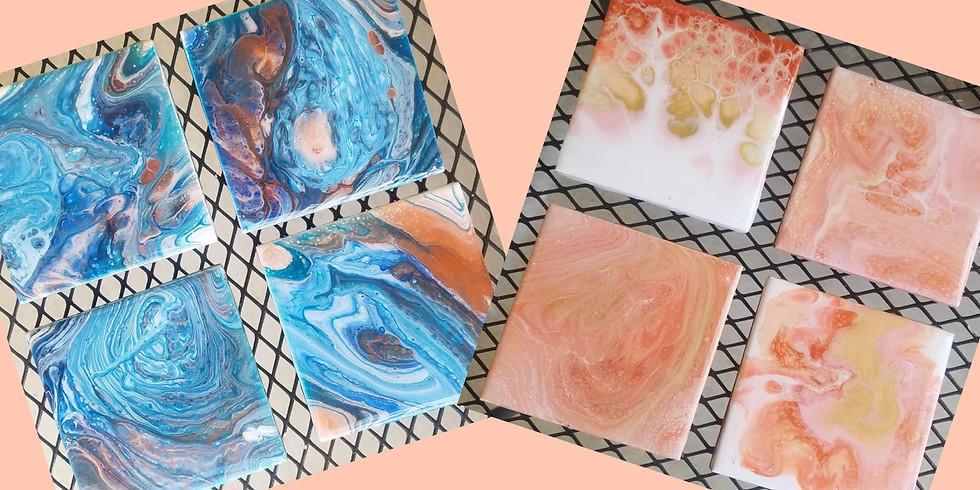 Acrylic Pour Coaster Class!