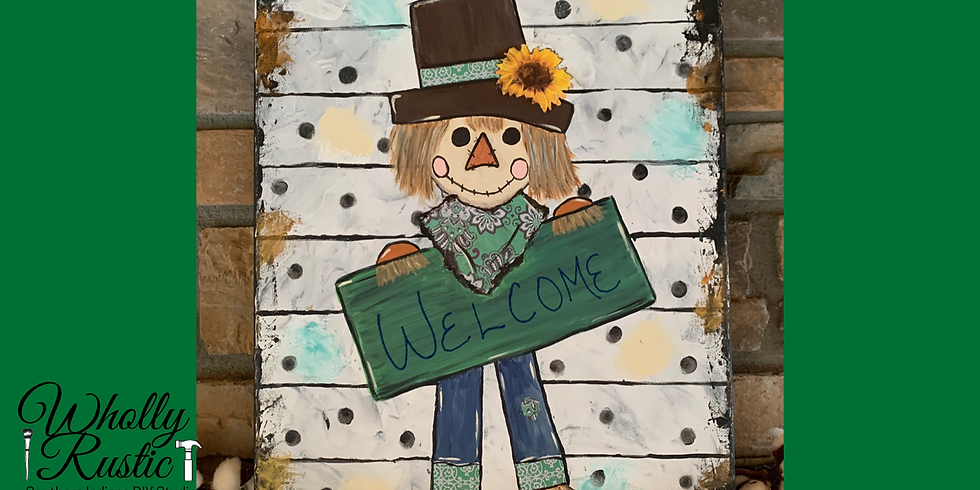 Mixed Media Scarecrow Painting @ Tuckers!