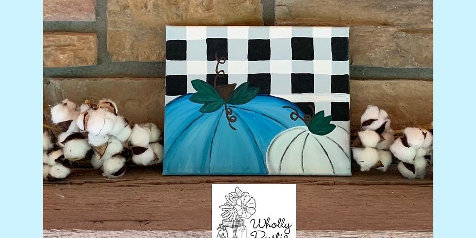 Pumpkin & Plaid Painting!