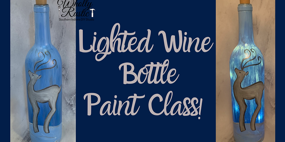 Lighted Wine Bottle Painting @ First Miracle Winery!