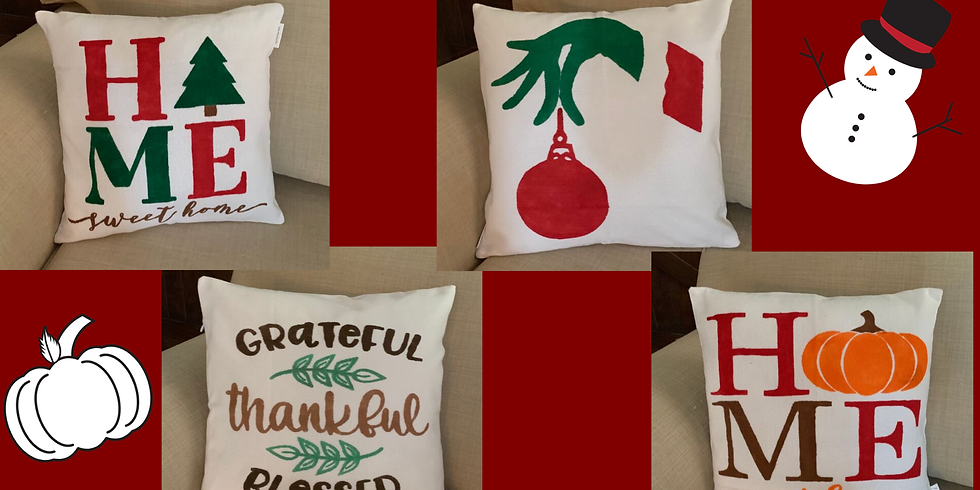 Holiday Pillow Painting!