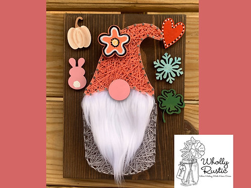 Interchangeable Gnome String Art Kit!