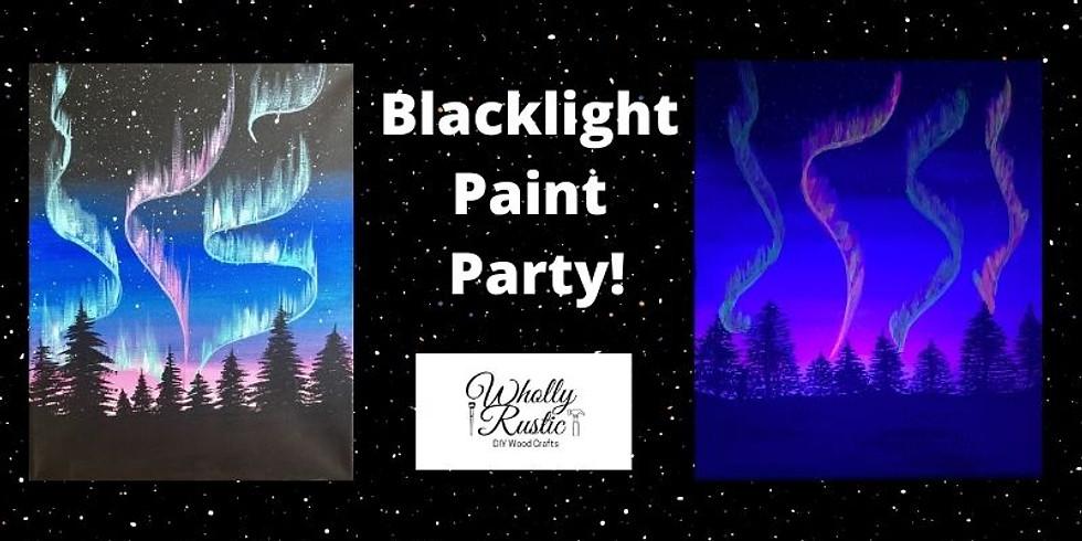 Paint Northern Lights Under Blacklight!