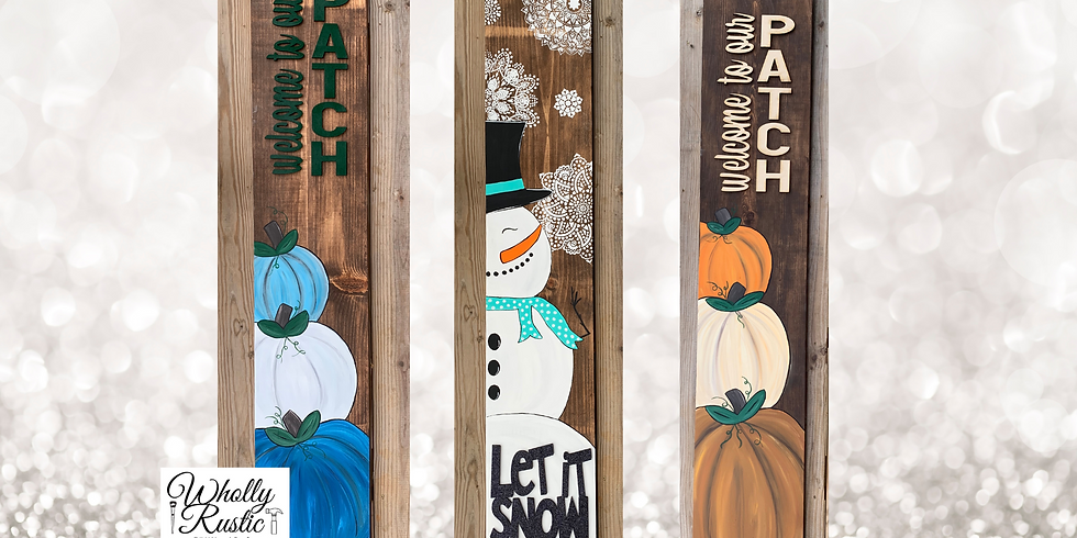 Holiday Porch Leaner Paint Class @ Forest Edge Winery!