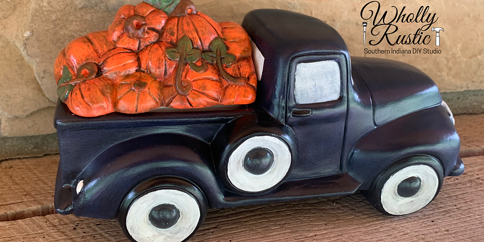 Fall Truck Ceramic Painting @ Wholly Rustic!