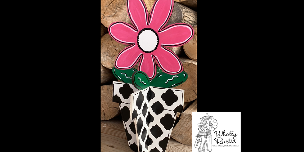 Standing Flower Pot Painting!