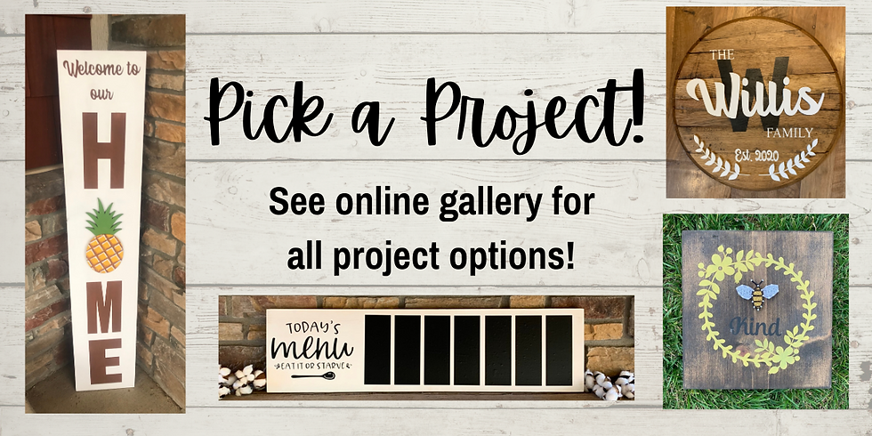 Pick a Project Class @ Wholly Rustic!