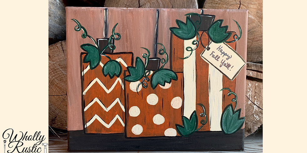 Rustic Pumpkins Paint Night!