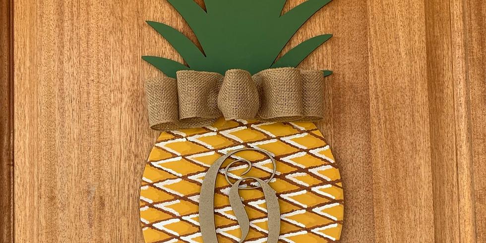 Pineapple Door Hanger @ First Miracle Winery!
