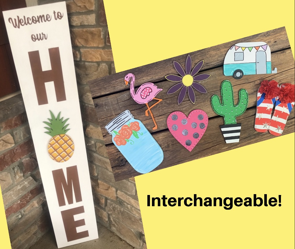 Interchangeable Porch Sign!
