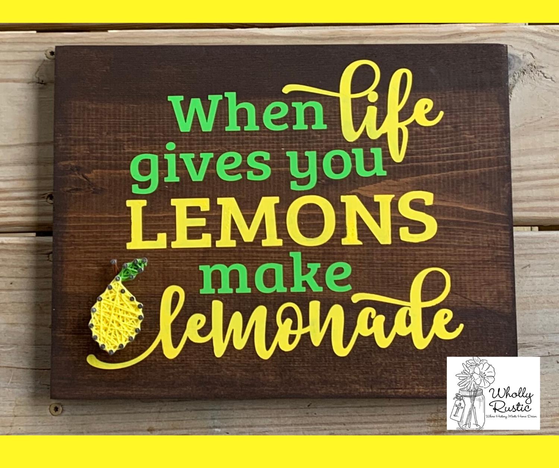 Lemon Paint & String!