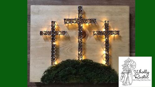 Lighted Cross String Art Kit!