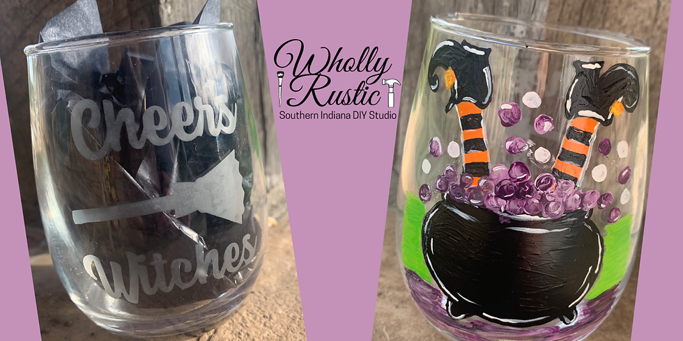 Cheers Witches! Glass Painting @ First Miracle Winery