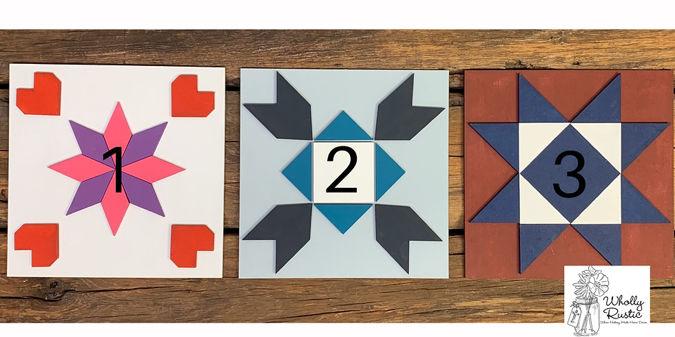 3D Barn Quilt Mini Signs @ 812 Pizza Co!