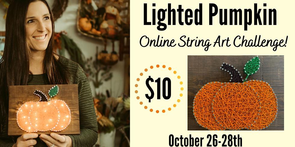 Lighted Pumpkin Online String Art Challenge!
