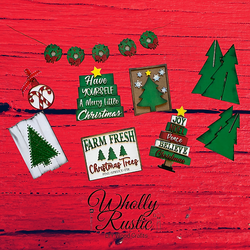 Christmas in July Tree Tiered Tray Kit!