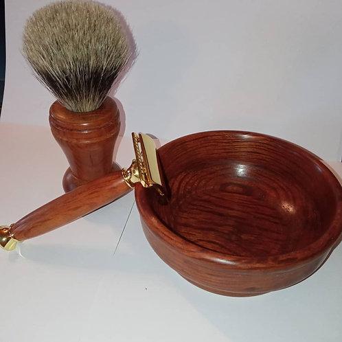 Shea oak wet shaving set