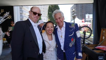 Celebrating with Lt. Governor Eleni Kounalakis (played her wedding years ago!)