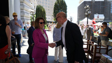 """""""Madam Speaker, I accept!"""" (another one with Nancy Pelosi)"""