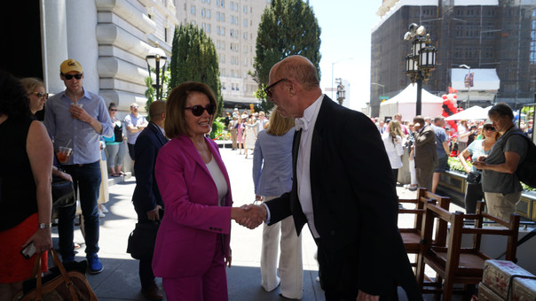 """Madam Speaker, I accept!"" (another one with Nancy Pelosi)"