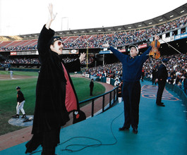 Father Guido Sarducci leading the Crowd:  Take Me Out To The Ballgame