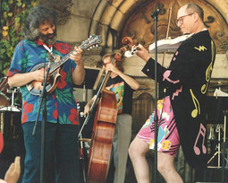 Jamming with the legendary David Grisman at the Saratoga Winery, my 4th of July Show