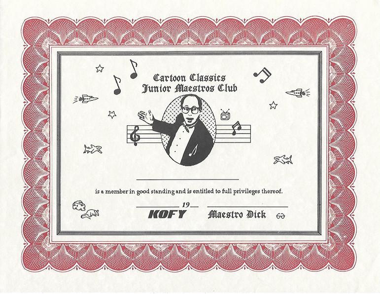 """Hey, Kids, Join My Cartoon Club!"" Hosting ""Cartoon Classics"" on KOFY TV 20, 1988-89. 400 Live Episodes."