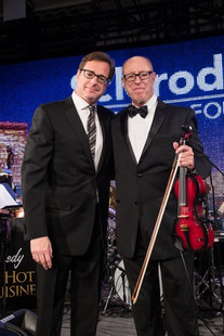 On-stage with my friend, Bob Saget raising $$ for Scleroderma Research, at the Classic Beverly Wilsire Hotel, 2019
