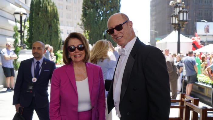 Enjoying the San Francisco Fairmont Hotel with Madam Speaker, Nancy Pelosi at the Tony Bennett Statue Ceremony